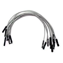 "Gray Wires 0.1"" F/F 6"" 26awg"