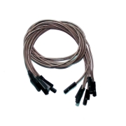 "Brown Wires 0.1"" F/F 12"" 26awg"