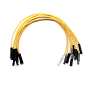 "Yellow Wires 0.1"" F/F 6"" 26awg"