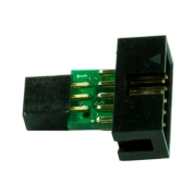 10-pin to 6-pin AVR ISP