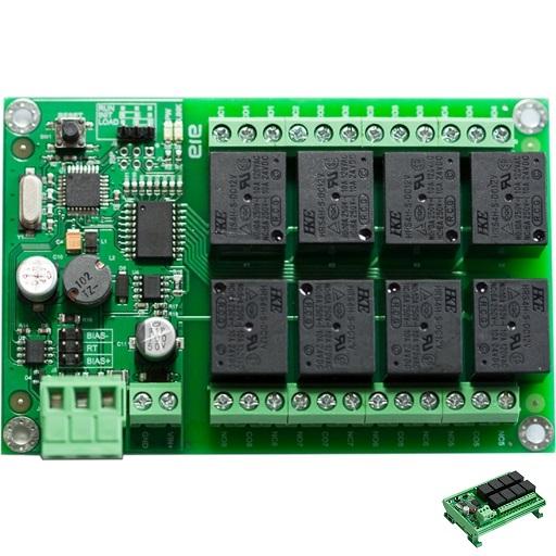 RTU-RL824M, Modbus RTU ASCII RS485 24 Volt Relays Board